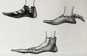 ukázka bot ze 14. století