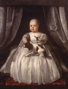 Karel II. Stuart jako dítě