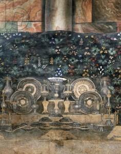 detail svatebního nádobí Girolamo Riario a Caterina Sforza