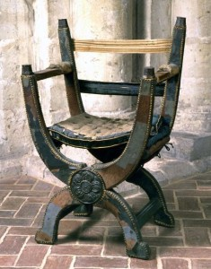 křeslo Marie I. při svatbě s Filipem II.