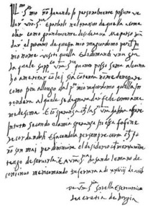 milostný dopis Lucrezie