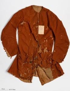 oděv odsouzeného a vězněného Damiense