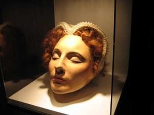 posmrtná maska Marie Stuartovny