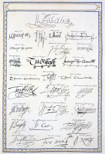 reprodukce podpisů Tudorovců