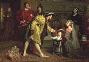 Jindřich se synem Eduardem VI.