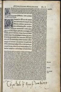 kniha o Cicerovi s poznámkami Jindřicha VIII.