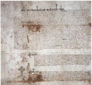 listina Jindřicha a Kateřiny Aragonské o zrušení manželství