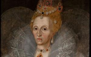 jediný portrét skutečné tváře Alžběty I. ve stáří