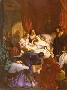 smrt Jany Seymourové po porodu