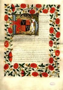 svatební listina Jindřicha a Kateřiny