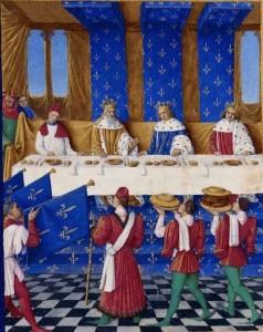 Karel V. hostí českého Karla IV. a jeho syna Václava