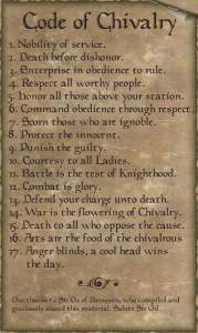 templářský kodex cti